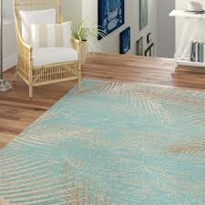 area rugs tropical palm fronds wayfair