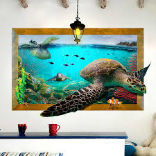 Ocean Sea Turtle Wall Stickers For Kids Room Children Bedroom Wall Decals Window Poster Wall Sticker Poster Kids Gift Home Decor Turtle Wall Sticker Sticker For Kids Roomwall Stickers For Kids Aliexpress