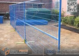 10ft Temporary Construction Fence Panels With Safety Powder Coat Color