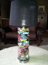 All Of Tyler S Cars That He Doesn T Want To Part With Will Now Be A Lamp In His Room We Found This Lamp And Lampshad Kid Room Decor Car Parts Decor Cars