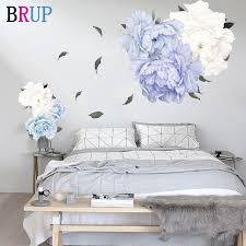 2020 Large Size Blue Poeny Flower Beautiful Wall Stickers For Living Room Wall Decal Baby Nursery Murals Home Decorations Decor Mural From Zhenrubusiness 101 15 Dhgate Com