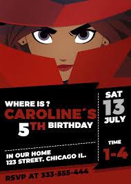 Carmen Sandiego Birthday Invitation Tarjetas De Cumpleanos