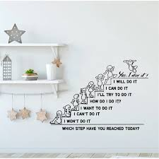 Motivation Wall Decals Quote Which Step Have You Reached Today Decal Office Sticker Bedroom Nursery Home Decor Art Murals Wall Stickers Aliexpress