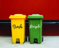 Trash And Recycle Set Decals Kitchen Decals Trash Can Decal Etsy