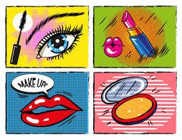 vine ic pop art makeup and