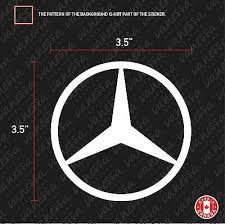 Mercedes Benz Logo Type B 8 10 12 Sticker Vinyl Decal Vehicle Car Wall Laptop