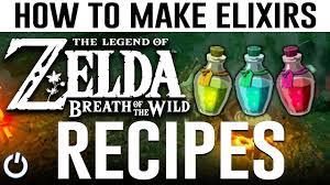 how to make every elixir zelda breath