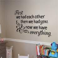 Baby Girl Poem Wall Art Decals Baby Girl Nursery Decals Simple Stencils