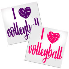 I Love Volleyball Decal For Cup Car Or Laptop Decals By Adavis