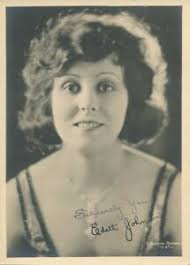 "EDITH JOHNSON Original Vintage 1920s Silent Starlet "" Signed "" DW Portrait  Photo 