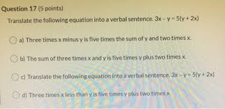 translate verbal sentences into