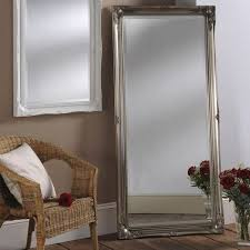chamberry silver leaner mirror leaner