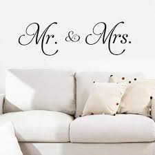 Mr Mrs Vinyl Wall Decal Living Room Decoration Removable Modern Minimalism Wall Sticker For Bedroom Home Decor Wandaufkleber Wall Stickers Aliexpress