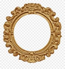mirror vector circle frame clip art