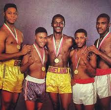 1984 Olympic team: Tyrell Biggs, Meldrick Taylor, Mark Breland, Pernell  Whitaker, Evander Holyfield | Boxing images, Boxing history, Boxing  champions
