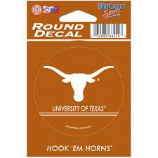 Texas Longhorns Wincraft Round Vinyl Decal Walmart Com Walmart Com