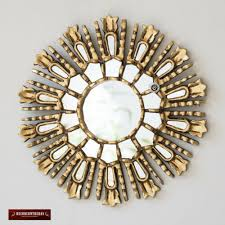 gold small sunburst mirror 11 8 from