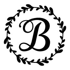 Monogram Initial Vine Wreath Vinyl Decal Rkcreative Llc Cricut Monogram Initials Decal Monogram