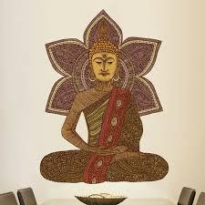 My Wonderful Walls Sitting Buddha By Valentina Harper Wall Decal Wayfair
