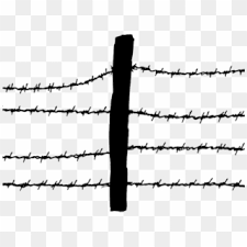 Barb Wire Clipart Fence Post Barbed Wire Fence Clipart Hd Png Download 640x480 2413649 Pngfind