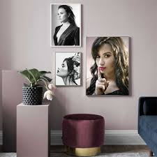 Demi Lovato Poster Stars Music Girl Singer Hot Custom Picture Posters Wall Art Canvas Modern Home Room Wall Print Decor Painting Calligraphy Aliexpress
