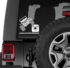 Wrangler Instagram Handle Custom Vinyl Decal Jeep Wrangler Graphics