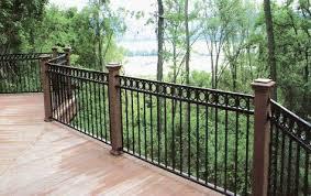 Wrought Iron Fencing Backyard Fences Railings Outdoor Wrought Iron Railing Exterior