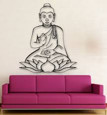 Wall Stickers Vinyl Decal Buddha Lotus Buddhism Religion Meditation Ig347 For Sale Online