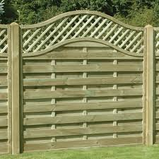 Omega Lattice Trellis Fence Panel Pressure Treated Free Delivery Available