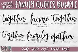 family quotes svg bundle home sign svg