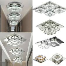 led multi color ceiling light crystal