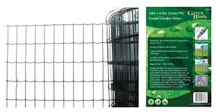 1 2m X 10m Garden Green Pvc Coated Border Steel Wire Mesh Fence Fencing Strong For Sale Online Ebay