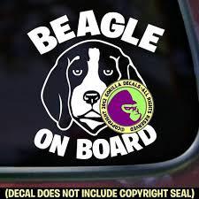 Beagle On Board Dog Vinyl Decal Sticker Gorilla Decals