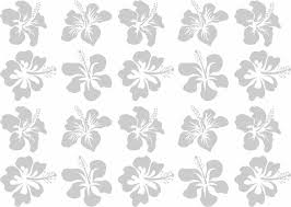 20 Hibiscus Blossom Coastal Design Series Etched Decal For Shower Doors Glass Doors And Windows 28 Tall X 20 Wide A C Moore Marketplace