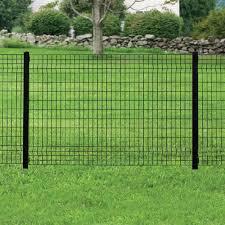 Forgeright Deco Grid 4 Ft X 6 Ft Black Steel Fence Panel 862217 The Home Depot Between Evergreen Hedge Plants Dog Fence Diy Dog Fence Fences Alternative