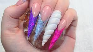 unicorn land acrylic nails tutorial