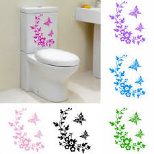 Wall Window Mirror Sticker Toilet Seat Stickers Car Decal Home Decoration Pvc Ebay
