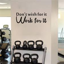 Mua Don T Wish For It Work For It Wall Decal Inspirational Quote Vinyl Wall Sticker For Home Sport Gym Living Room Classroom Motivational Saying Fitness Workout Success Wall Decal Wall Decorations Black Tren Amazon Mỹ Chinh