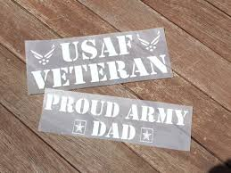 Proud Army Dad Military Vinyl Car Decal Any Branch Personalize It For You Personalize It For You