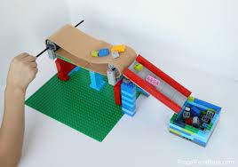 conveyor belt with lego bricks