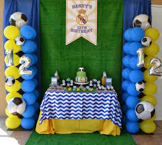 Real Madrid Soccer Party Decoracion De Fiestas Infantiles