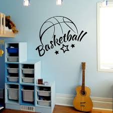Amazon Com Basketball Wall Decals Sport Ball For Boys Room Kids Gym Decor Vinyl Sticker Murals Da3928 Home Kitchen