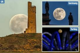 Brillante luna piena di 'fiori' vista in immagini spettacolari ...