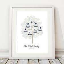 family tree personalised print home