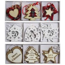 wooden christmas tree decorations heart