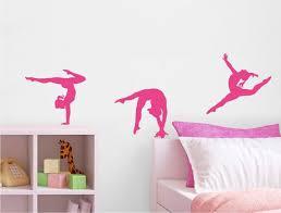 Gymnastics Wall Decals Gymnast Wall Art Gymnast Wall Decor Etsy