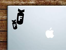 Amazon Com Boop Decals F Bombs Laptop Apple Macbook Car Quote Wall Decal Sticker Art Vinyl Cute Inspirational Teen Girl Boy Funny Dope Tnt Explosion Curse Cuss Word Home Kitchen