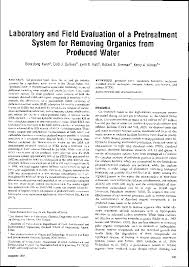 PDF) Laboratory and Field Evaluation of a Pretreatment System for Removing  Organics from Produced Water | Soondong Kwon and Enid Sullivan Graham -  Academia.edu