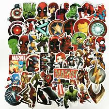 33pcs Sticker Cute Marvel Avengers Super Hero Car Laptop Skatboard Luggage Decal For Sale Online Ebay