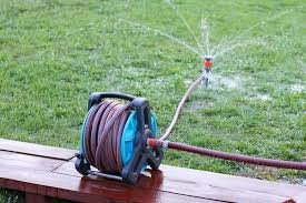 hose reel options for tidy yard storage